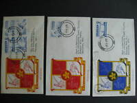 Canada unknown cachet 3 FDC first day covers, sports issue, check them out!