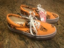 Vans Off the Wall Era Logo Mix Tangerine Black Shoes Mens 4.5 Womens 6 Sneakers