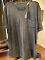 NWT John Varvatos Star USA XXL Light Olive Fade Crew Neck Pocket Tee T Shirt