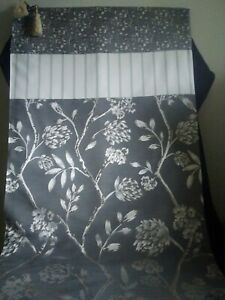 Grey floral abstract and striped designer throw and oblong cushion cover set
