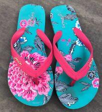 Girls Joules Flip Flops, Floral Print, Size UK 2/3 / EU 35/36