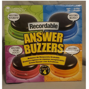 Learning Resources Recordable Answer Buzzers - Set of 4 NEW IN BOX