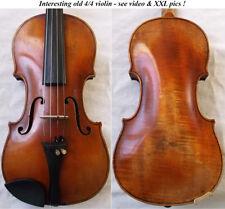 GOOD OLD GERMAN VIOLIN - see VIDEO - FINE ANTIQUE RARE VIOLINO バイオリン скрипка 047