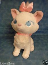 "Disney Store Aristocats Marie White Kitty Cat Pink Bows Plush 9 1/2"""