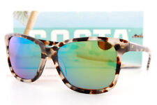 New Costa Del Mar  Sunglasses MAY Shiny Tiger Cowrie Green Mirror 580G Polarized