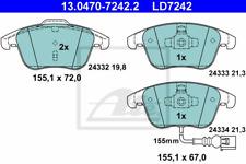 Bremsbelagsatz Scheibenbremse ATE Ceramic - ATE 13.0470-7242.2