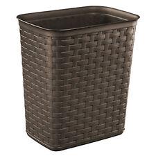 Sterilite Weave 3.4 Gallon Plastic Home/Office Wastebasket Trash Can