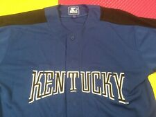 Vintage Kentucky Starter Blue Sewn Button Up Baseball Jersey Men's Size L Mint