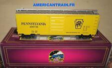 Wagon 40' Single Door Box Car Pennsylvania 3 rails échelle O MTH