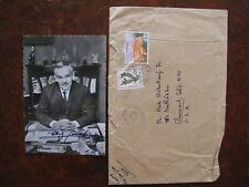 1972 Rainier III Prince of Monaco Signed Photograph + Letter vintage