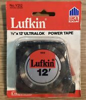 Lufkin Measuring Tape Ultralok Y212 12 ft x 1/2 in Tape Measure Chrome USA Made