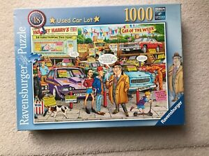 Ravensburger 1000 piece jigsaw Best Of British No.18 Used Car Lot - Complete