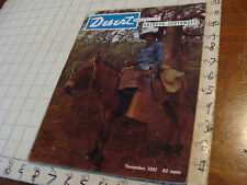 CLEAN Magazine: THE DESERT 1961 nov VAQUERO ON A RED MULE Cover 44pgs