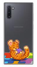 Funda Gel Transparente para Samsung Galaxy Note10 diseño Leopardo Dibujos