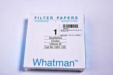 Whatman Grade 1 Filter Circles 125mm  Qualitative Cicles