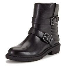NEW CLARKS DANELLE MIST BLACK LEATHER BOOTS - UK size 4D