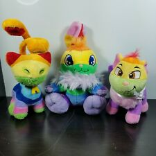Neopets Rainbow Cybunny Aisha Wocky Plush Stuffed Animal Plushie Soft Toy Lot