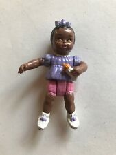 Playskool Dollhouse Nursery African American Baby Girl Doll Purple Pink