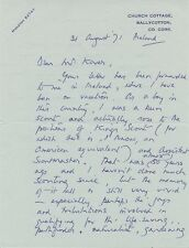 MYSTERY IRISH POLITICAL FIGURE Autograph Letter Signed