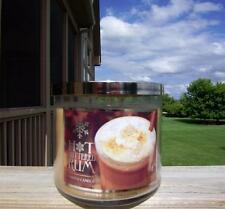 BATH & BODY WORKS LARGE 3-WICK CANDLE JAR IN HOT BUTTERED RUM ! FREE SHIP