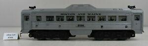 (Lot #366) O Gauge Marx Model Train Diesel Budd Rail Car Boston and Maine 2124