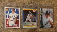 (3) Jason Giambi 1991 Topps Traded 1992 Classic Front Row Rookie card lot RC A's