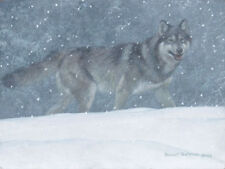 Robert BATEMAN Snowfall Wolf LTD art Giclee Canvas Signed and Numbered
