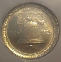 1926 Half Dollar Silver Sesquicentennial Exposition Liberty Bell Commemorative