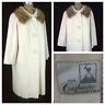 VTG 60s WYANDOTTE Cashmere Wool Mink Collar Mod Swing Dress Princess Coat M