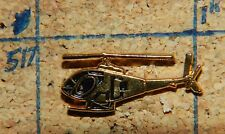 "HELICOPTER GOLDTONE 7/8"" METAL HAT OR LAPEL PIN"
