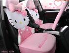 1 Sets New Hello Kitty Car Cute Universal Car Seat Covers Cushion Plush Pink 04