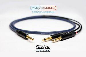 Van Damme TRS - 2X TS Gold Stereo Neutrik Studio Cable Amplifier Y Split STEREO
