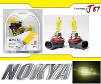 Nokya 2500K Yellow H11 Nok7618 55W Two Bulbs Head Light Low Beam Replace Upgrade