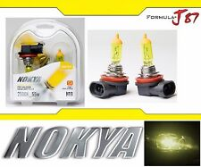 Nokya 2500K Yellow H11 Nok7618 55W Two Bulbs Fog Light Replacement Plug Play OE