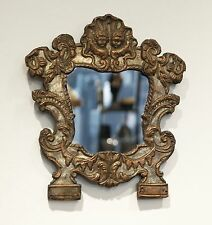 Baroque Mirror around 1750,  partly silvered, copper an wood