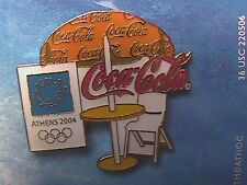 ATHENS 2004 OLYMPIC LAPEL PIN COLLECTIONS: US COCA-COLA COKE HAMBURGER STAND