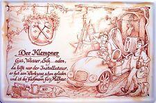 Occupazione Idraulico Targa di Latta Poster Metallo Scudo ad Arco 20 x 30 CM