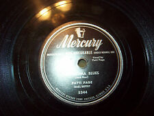 PATTI PAGE QUARTET WITH MY EYES WIDE OPEN & OKLAHOMA BLUES 78 MERCURY 5344