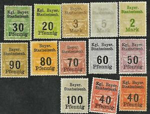 Germany Bayern Bayer Staatseisenb State Railway Stamps FREE Shipping U.S.