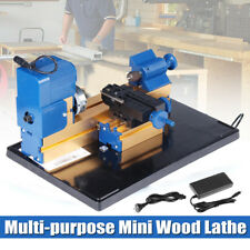 Multifunction Mini Wood Lathe 24W DC12V 2A Woodworking Turning Cutting Bead Tool