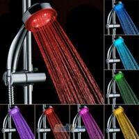 7 Color Colorful LED Shower Head Light Up Water Power Bathroom Handheld Sprayer