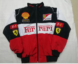 New Red black Embroidery EXCLUSIVE JACKET suit F1 team racing