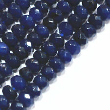 Natural 2x4mm Faceted DARK Sapphire Abacus Gems Loose Beads 15''AAA+