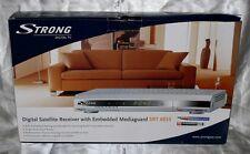 Strong SRT 6855 Mediaguard Twin Tuner Digitale TV Sat Receiver Smart Card Silber