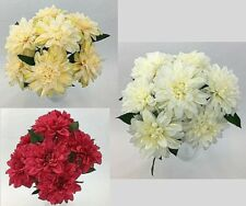 Artificial Silk Dahlia Flowers Bush/Flower Bouquet/Arrangement. Home Decor