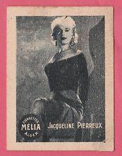 Cigarettes Melia Algeria Rare 1950s Film Star Tobacco Card - Jacqueline Pierreux
