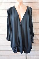 CITY CHIC top sz XL 18 20 22 V neck wrap blouse