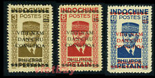 NORTH VIETNAM: Viet Minh Overprinted on Indochina Stamp MNH NGAI 1L6, 1L7, 1L9