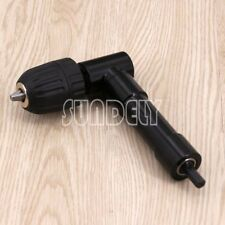 Right Angle Bend Extension Chuck 90 Degree Drill Attachment Adapter Power Electr