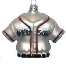 KURT S. ADLER MLB™ GLASS BOSTON RED SOX JERSEY BASEBALL CHRISTMAS ORNAMENT